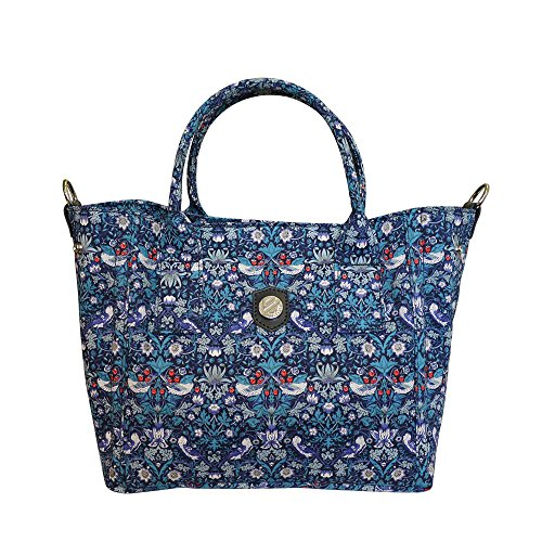 Bonfanti Liberty Strawberry Thief Grab Bag Shoulder Tote - Blu