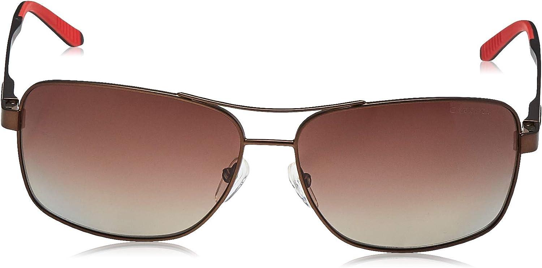 Carrera Mens CA8014S Polarized Rectangular Sunglasses