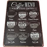 Grandmart カフェ Coffee Menu コーヒー 復古調 鉄 ガレージ メニュー ブリキ看板です アンティーク風 雑貨 おしゃれ インテリア