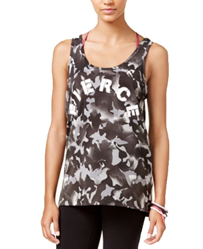 Material Girl Active Juniors Ladder-Back Graphic Tank Top