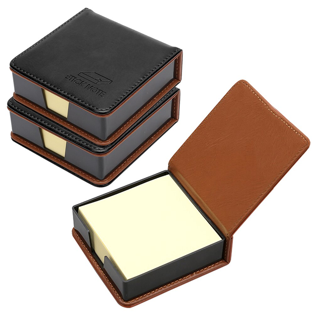 MyLifeUNIT Business Sticky Notes Holder with 3 x 3 inch Sticky Note, 3 Pack (Black) by MyLifeUNIT (Image #1)