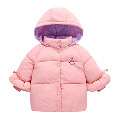 Ankoee Blouson Manteau Chaud Enfant Garçon Fille Cotton avec Chapeau Veste  à Manches Longues Bébé Vêtement 6af2d507b50b