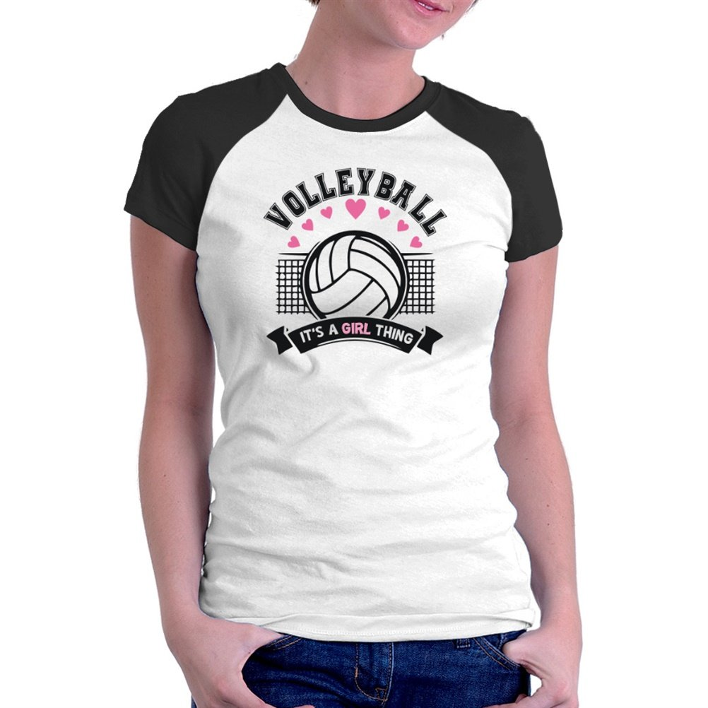 Volleyball it's a girl thing Raglan Women T-Shirt