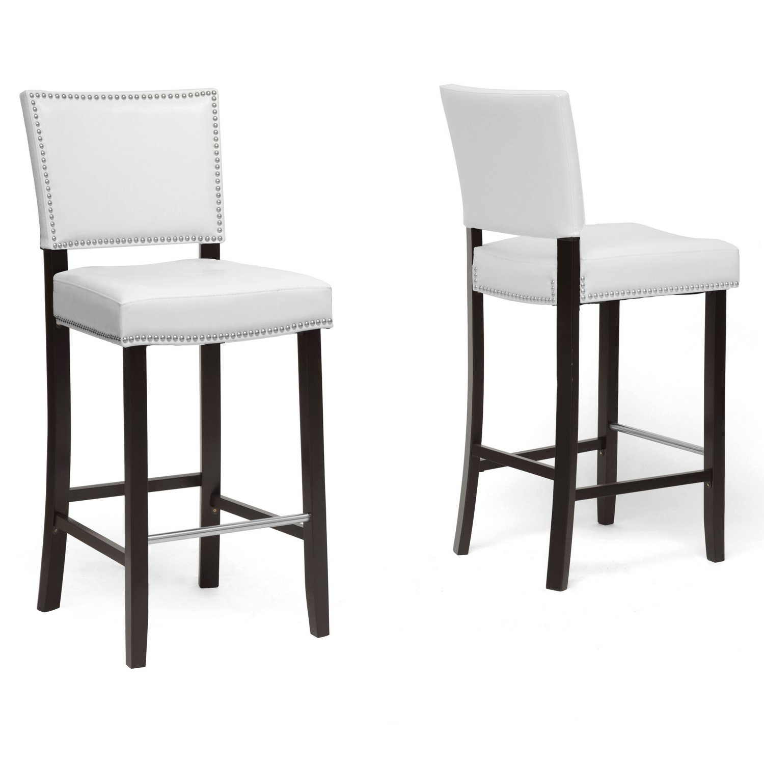 Amazon.com Baxton Studio Aries Modern Bar Stool with Nail Head Trim White Set of 2 Kitchen u0026 Dining  sc 1 st  Amazon.com & Amazon.com: Baxton Studio Aries Modern Bar Stool with Nail Head ... islam-shia.org