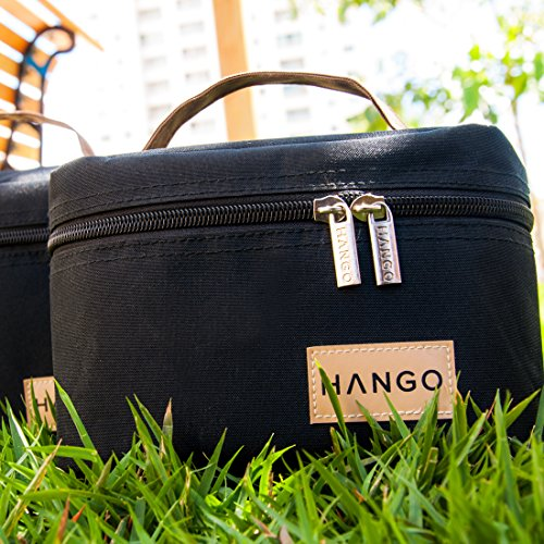 Hango Adult Lunch Box Insulated Lunch Bag Large Cooler Tote Bag (Set of 2 Sizes) For Men and Women, Black by Attican (Image #6)
