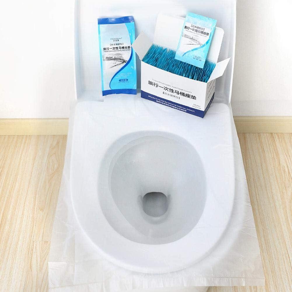 junengSO 200 Uds Fundas de Asiento de Inodoro Desechables Protectores de Papel de Orinal biodegradables Desechables