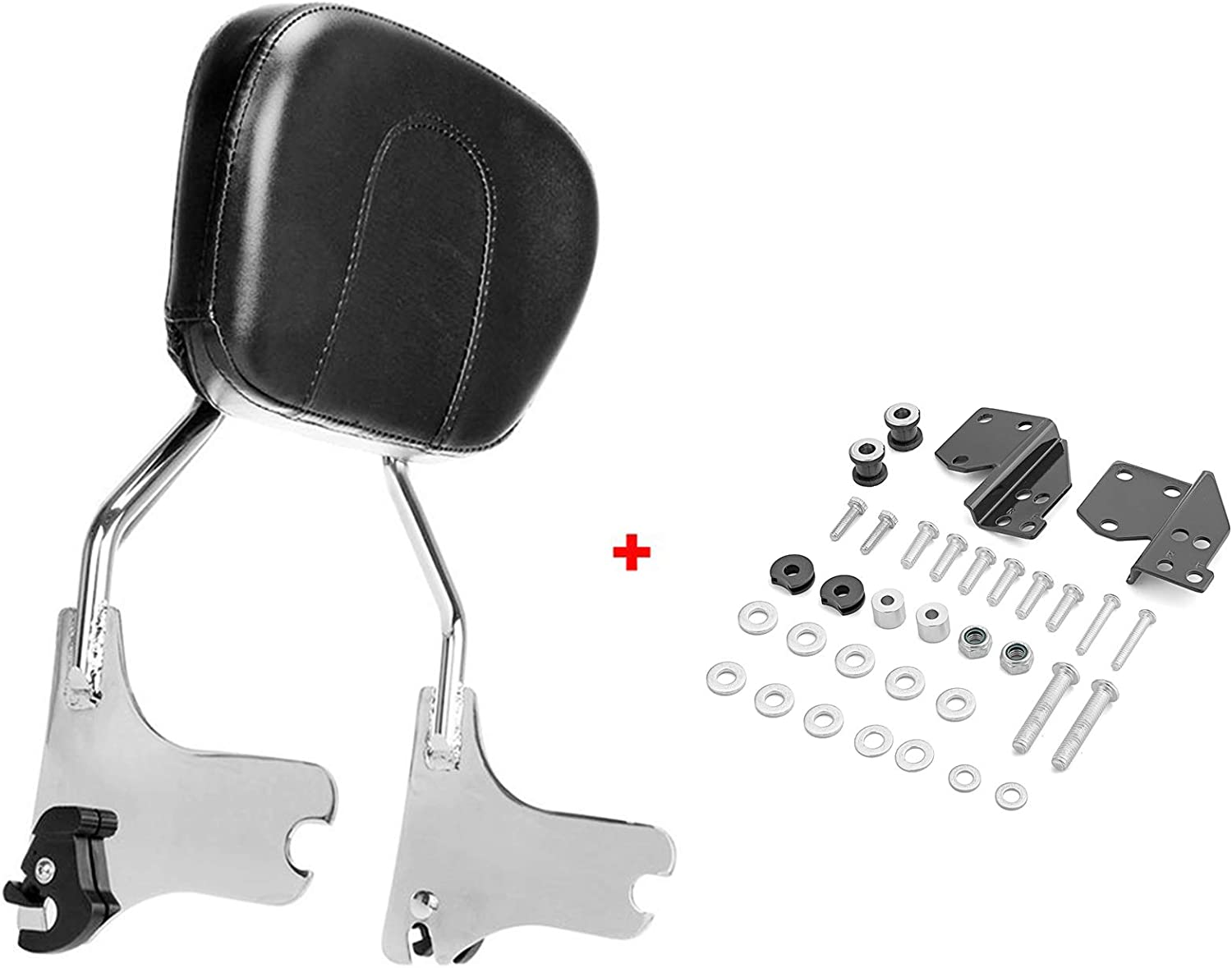 ASD Detachable Chrome Passenger Sissy Bar W//Backrest Pad /& 4-Point Docking Hardware Kit Compatible with Harley Davidson 1997-2008 Touring Electra Glide Road King Street Glide