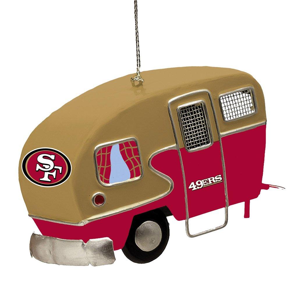 NFL San Francisco 49ers LED Boxed Ornament Set, Small, Multicolor