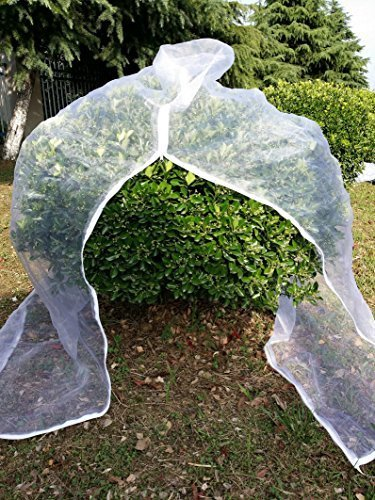 Agfabric Bird Netting Insect Barrier Garden Plant Cover 120'' H x 108'' W In-shape Bag with Zipper and Rope