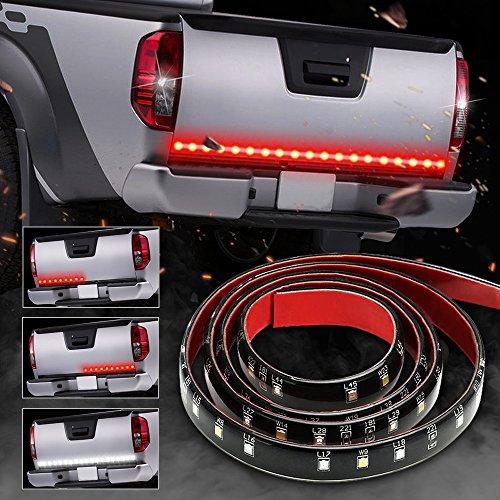 SOLMORE 49Inch 72-LED Tailgate Light Bar Waterproof IP67 Truck Light Strip Stop,Reverse,Running,Turn Signal Lights for SUV RV Trailer Pickup (Red/White)
