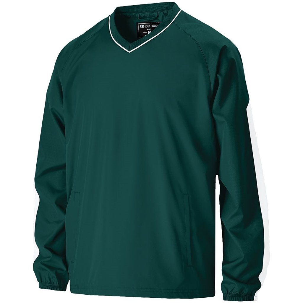 Holloway Youth Bionic Pullover Windshirt (Medium, Dark Green/White) by Holloway