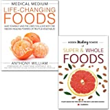 medical medium life-changing foods [hardcover] and hidden healing powers of super & whole foods 2 books collection set…