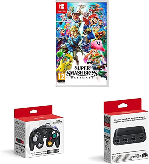 Super Smash Bros - Ultimate with GameCube Controller (Super Smash Bros. Edition) + GameCube Controller Adapter - Nintendo Switch [Importación inglesa]: Amazon.es: Videojuegos