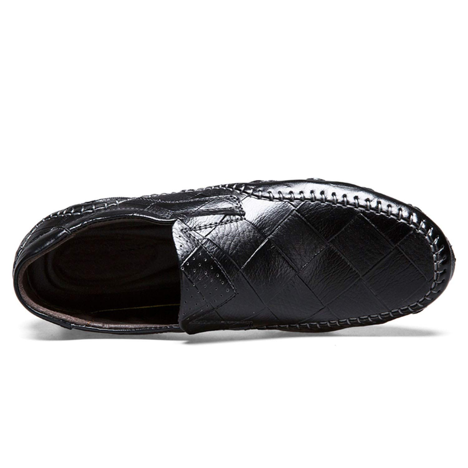 Casual Shoes Men Slip-On Loafers Moccasins Genuine Leather Flat Oxford Men Male Adult Sneakers Plus Size
