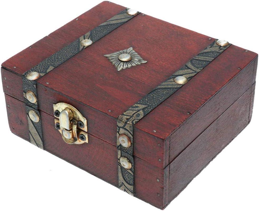 Vosarea Wood Storage Boxes Vintage Wooden Boxes European Wooden Box for  Desk Bedroom Drawer Sitting Room Garden