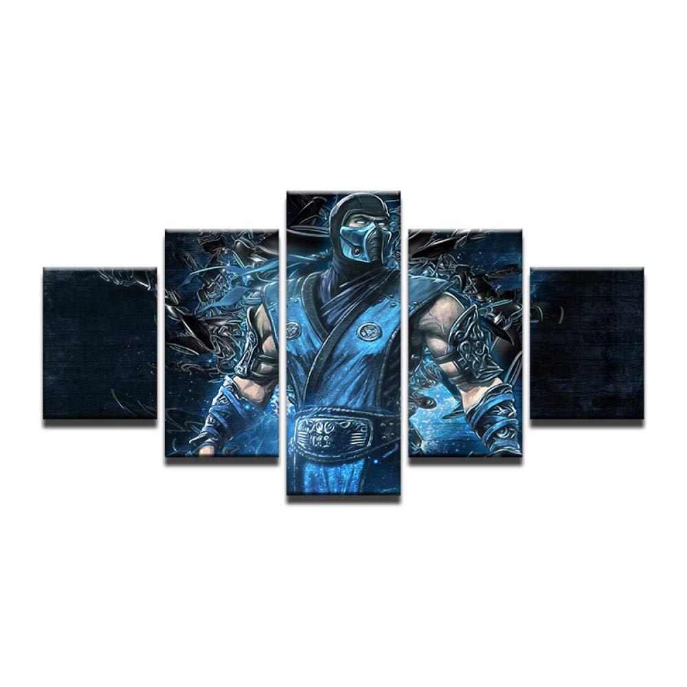 WEPAINT Mortal Kombat Ninja Sub Zero Art Poster Tela de Seda ...