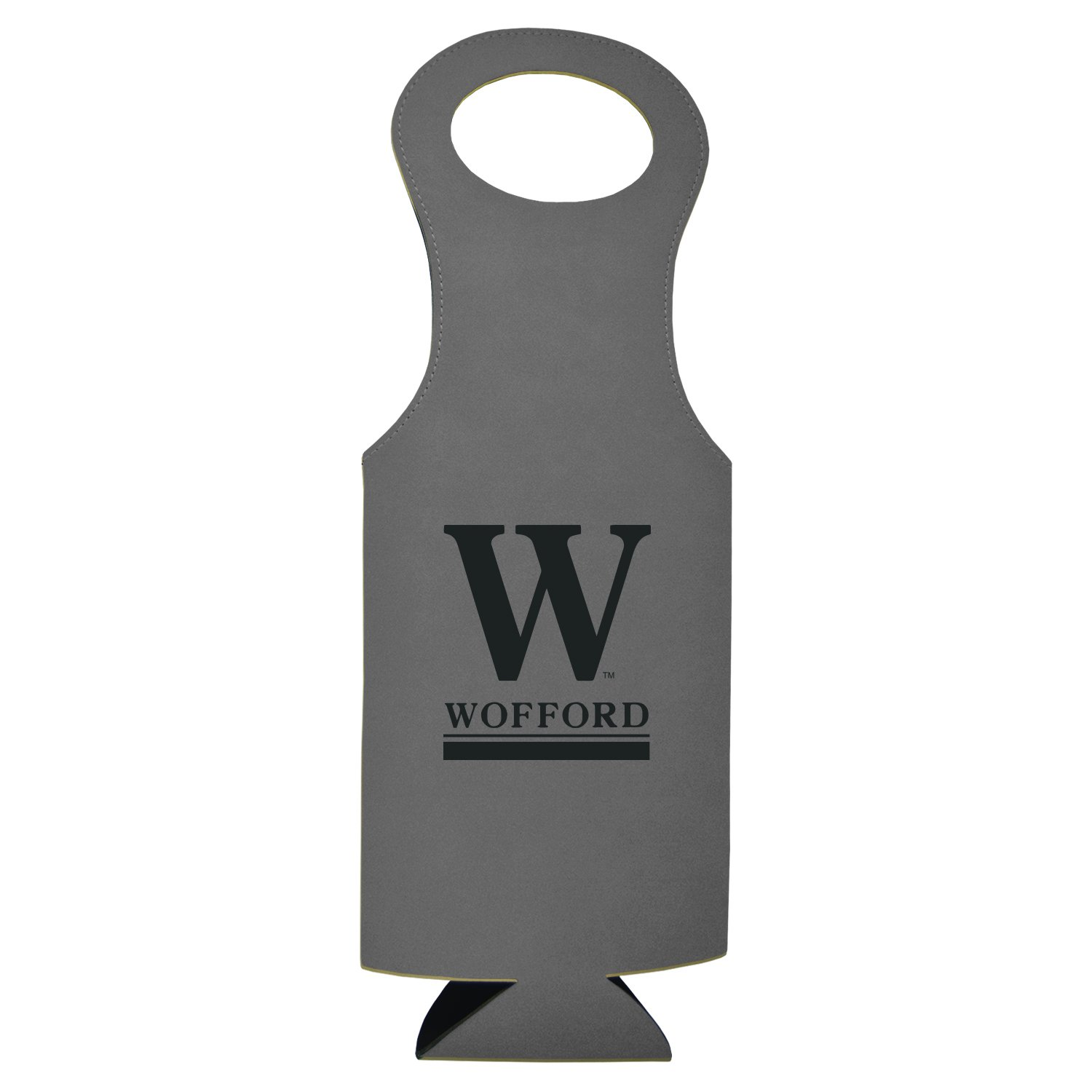 Wofford College-Velour Wine Tote-Grey