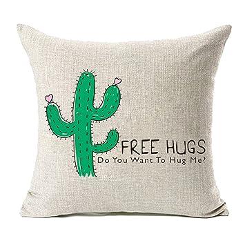 Amazon.com: MFGNEH - Fundas de almohada de lino y algodón ...