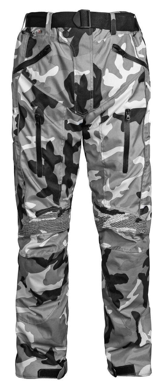 para hombre protectores de rodillas y muslos aprobados por la CE tejido Cordura Pantalones impermeables de motero