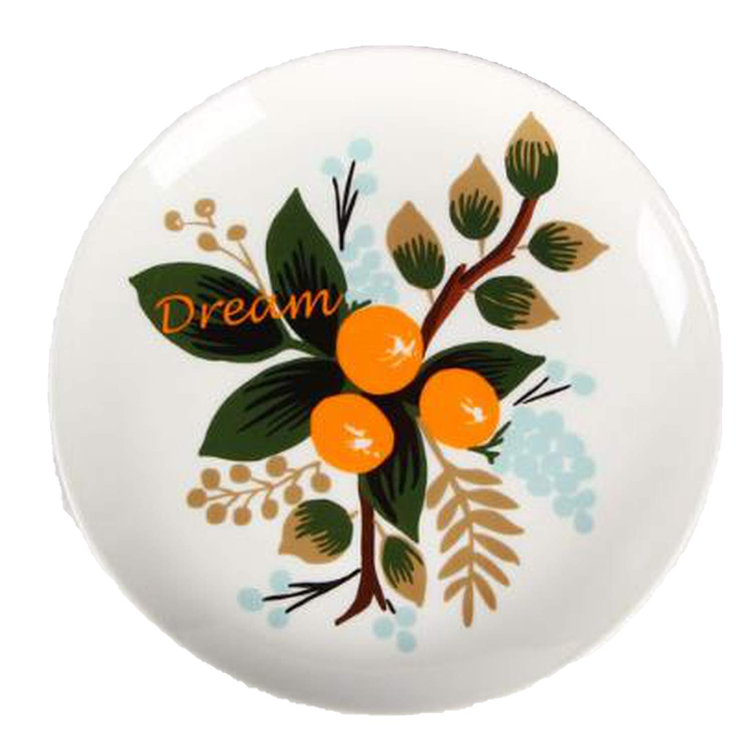 ONLY-FOR-ME-1 Mediterranean Hanging Plate Decorative Tray Sitting Disk Ceramic Plate Creative Home Art Plate Craft Gift Tray,3,10inch About 266mm