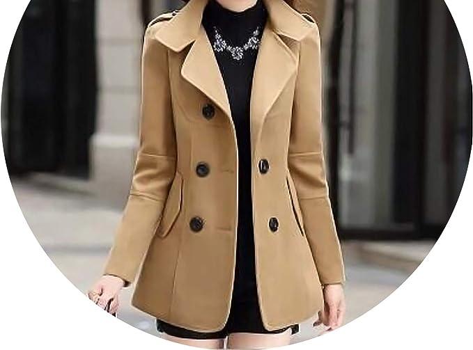 Amazon.com: Casual Fashion - Abrigos largos de lana para ...
