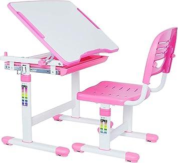 Escritorio para niños Mesa de tablero artificial y juego de sillas ...