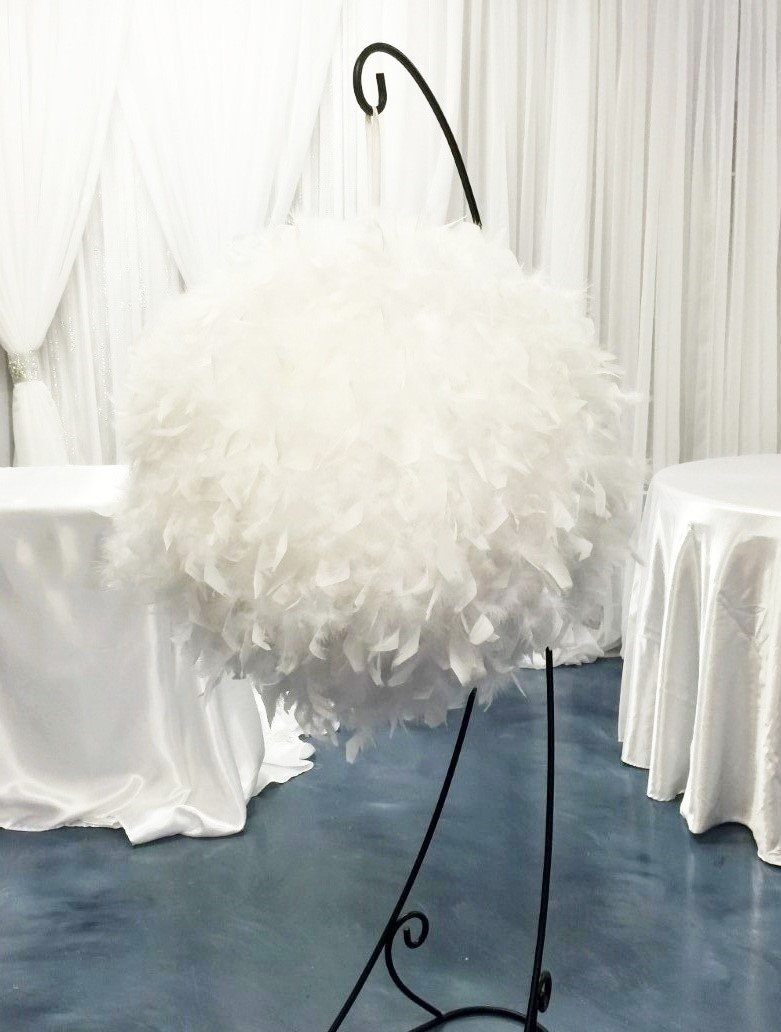 Amazon.com: White Feather Ball Centerpiece Large 60\