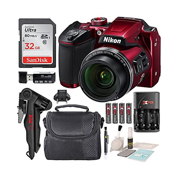 Nikon COOLPIX B500 Digital Camera along with 32GB SDHC Memory Card and Deluxe Accessory...