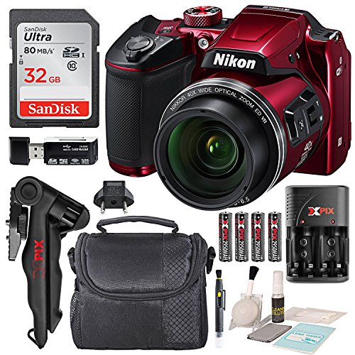 Nikon COOLPIX B500 Digital Camera along with 32GB SDHC Memory Card and Deluxe Accessory Bundle with Cleaning Kit For Sale