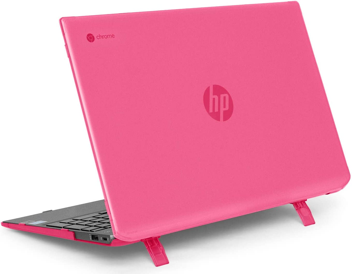 "mCover Hard Shell Case for Late-2019 15.6"" HP Chromebook 15-DExxxx Series (NOT Compatible with Smaller HP C14 / C13 / C11 Series) laptops (HP C15-DE Pink)"