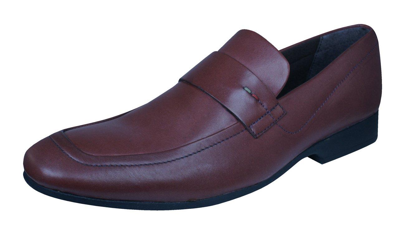 Kickers Rynlyn Mocasines de Cuero Para Hombre/Zapatos 40 EU|Brown