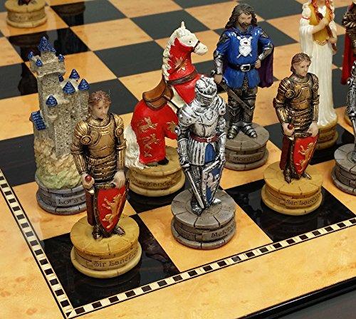 Medieval Times King Arthur / Lancelot Camelot Knights Chess Men Set W/ 15