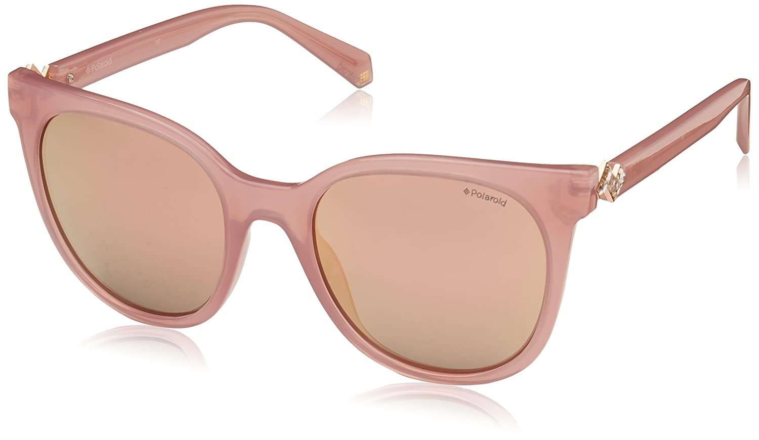 Polaroid Sunglasses Women's Pld4062sx Polarized Square, Pink, 52 mm 4062-S-X
