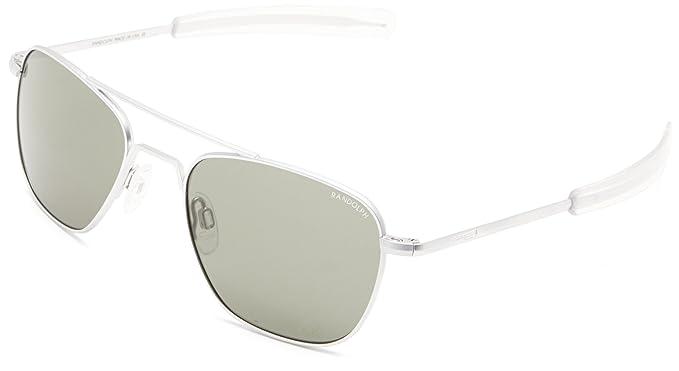 c96b8c91f40 Randolph Engineering Aviator Matte Chrome Sunglasses - AGX Glass Bayonet  52MM  Amazon.co.uk  Clothing