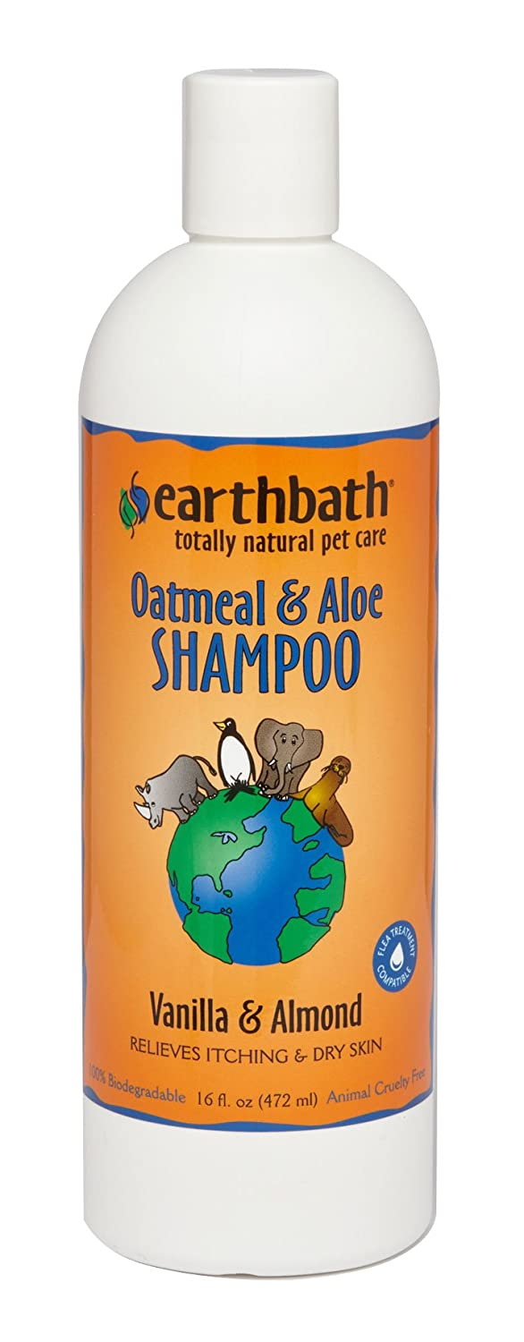 Earthbath Natural Oatmeal & Aloe Itch Relief Dog & Cat Shampoo for Sensitive Skin 16 oz