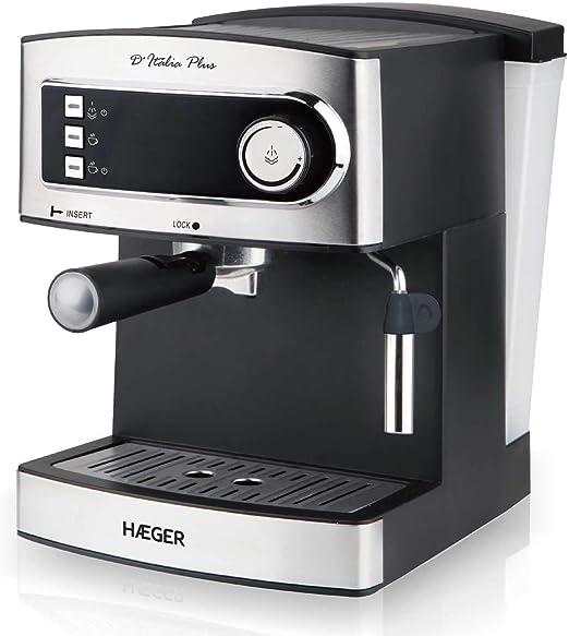 HAEGER DITALIA PLUS - Cafetera Espresso con Bomba Italiana de ...