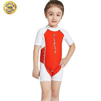 021d1141630 IvyH Kids Swimsuit - One Piece Swimwear Boys Wetsuit Zip Girls Surfing  Diving Suits Beachwear Swimming Costume UV Sun Protection UPF 50+:  Amazon.co.uk: ...
