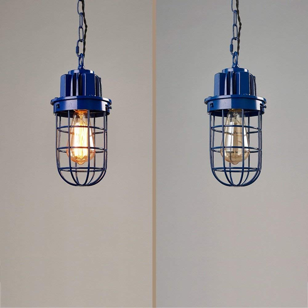 Modeen american retro industry iron restaurant single head chandelier simple hollow iron lamp cover adjustable hanging chain ceiling pendant lamp interior