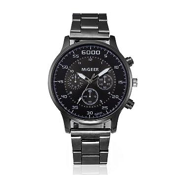 Relojes Hombre Inteligentes 💝💞 Yesmile Moda Hombre Cristal Relojes Acero Inoxidable Reloj analógico de Cuarzo: Amazon.es: Hogar