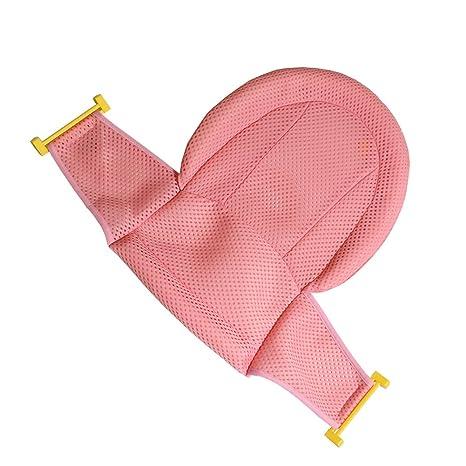 Asiento de apoyo Autbye, para bañera de bebé, malla de ducha para bañera de recién nacido, antideslizante ajustable y cómodo para bebés de 0 a 3 ...