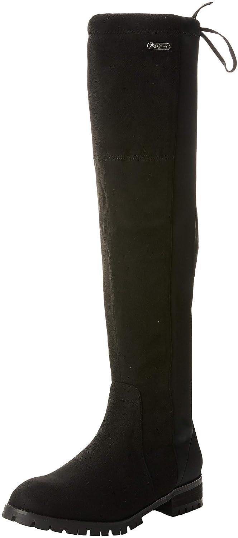 Pepe Jeans Amy Hight, Bottes Jeans Au-Dessus (Black du Genou Femme Noir Noir (Black 999) a75aa5b - automaticcouplings.space