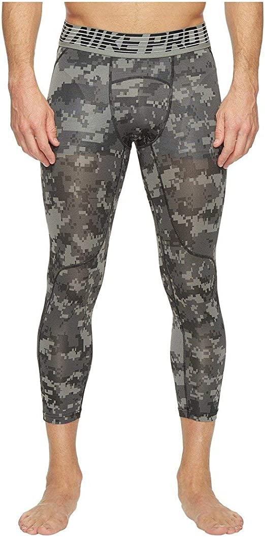 Nike Men's Pro Hypercool 3 Quarter Digi Camo Tight
