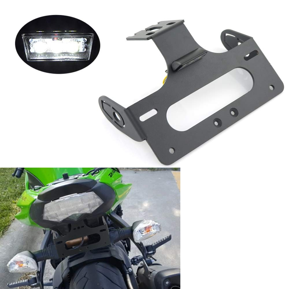 Xitomer Fender Eliminator Kits/Rear Tail Tidy, for Kawasaki ZX-6R Ninja 2009-2018, ZX-10R Ninja 2008-2010 with LED License Plate Light, Compatible with OEM/Stock and Aftermarket Turn Signal