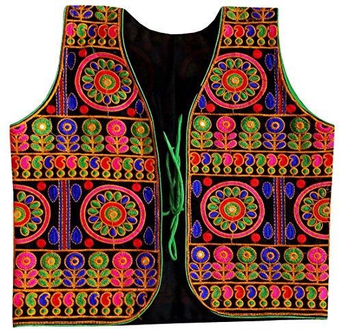 Embroidered Waistcoat - PULAA Gujarati Ladies Wear Jacket - Both Side Embroidered Jacket-Indian Koti-Cotton Vest-Navratri Special Waistcoat
