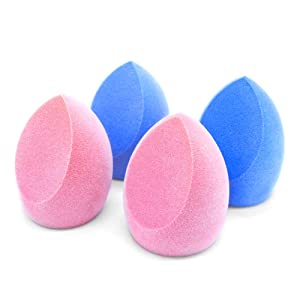 Make Up Sponge Microfiber Make Up Blender 4pcs Gift-Box Ultra-Soft for Flawless Foundation, Powder, Liquid and Cream, Dual Layer Structure