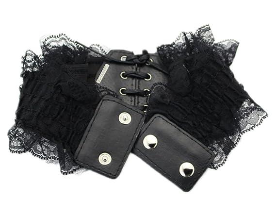 BONAMART the ® jolie ceinture pour dentelle arche tissu   obi-cuir  synthétique-large ceinture élastique avec ceinture large à porter la  ceinture à la ... 09dbb799af0