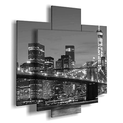 duudaart Quadro New York 04 3D multilivello cucine componibili Skyline  soggiorni Moderni Quadri Citta