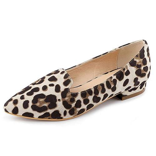 Allegra K Zapatos Mocasines Plantilla Acolchada con Punta Estrecha para Mujeres: Amazon.es: Zapatos y complementos