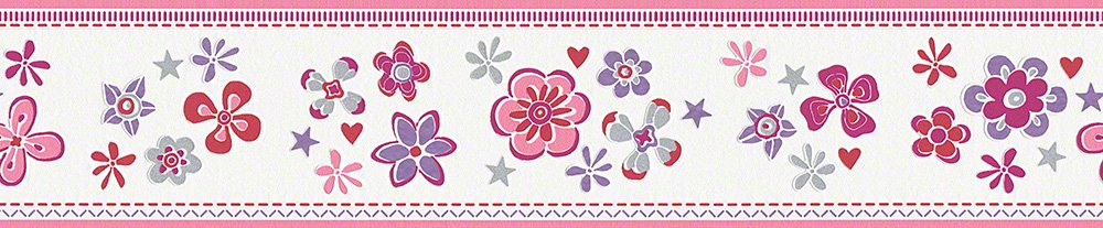 Esprit Kids 3 border - material: border - colour: red, violet, grey, white - article no. 1506-4955 n.a. 94127-3