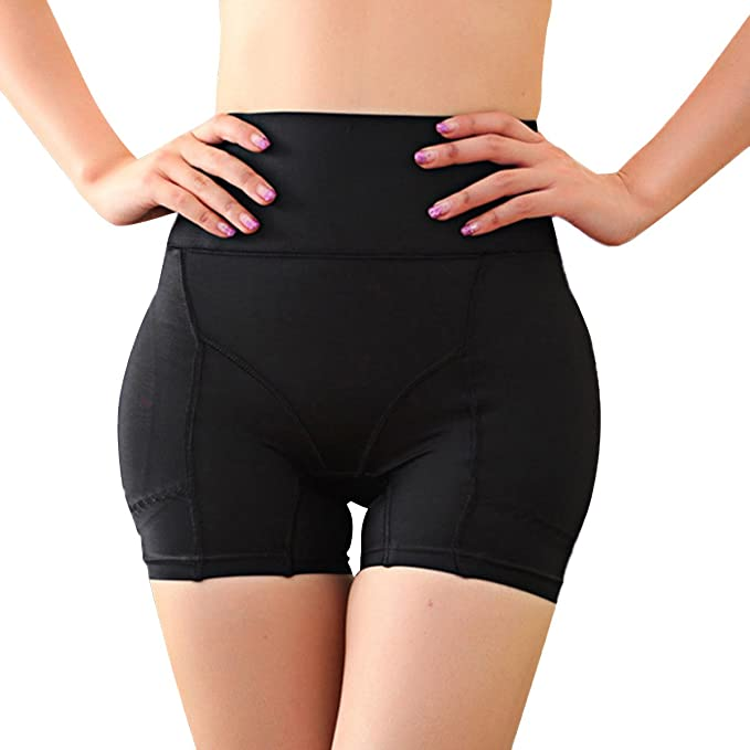 e98c1487e5 Defitshape Women s Butt Lifter Shapewear Panties Padded High Waist Hip  Enhancer Shaper Panty Black US10
